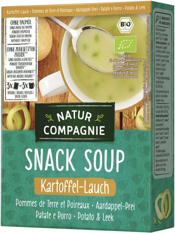 Natur Compagnie Snack Soup Kartoffel-Lauch 12x60g