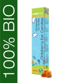 Naturhelix 100% BIO Ohrkerzen Natur 2er Packung für Kinder 2Stück