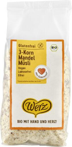 Naturkornmühle Werz 3-Korn Mandel Müsli, Vollkorn, glutenfrei 5x400g