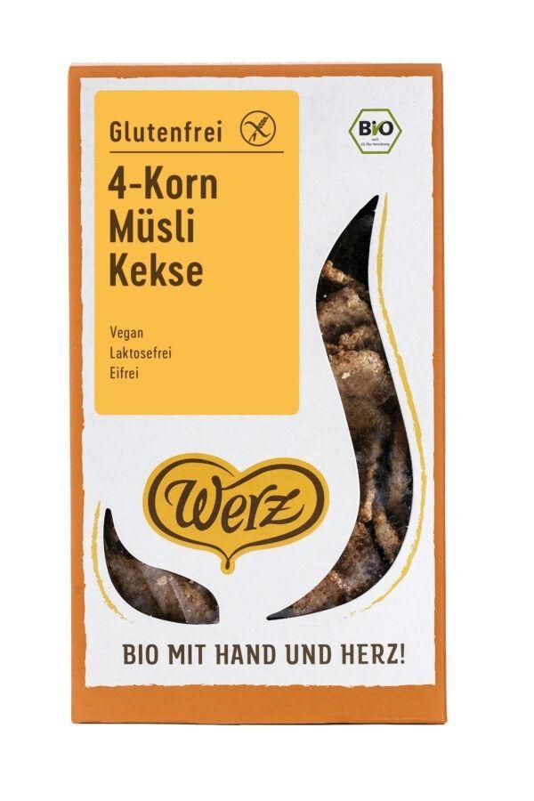 Naturkornmühle Werz 4-Korn Müsli Kekse, Vollkorn, glutenfrei 6x150g