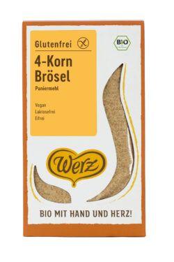 Naturkornmühle Werz 4-Korn Brösel, Paniermehl, Vollkorn, glutenfrei 4x200g