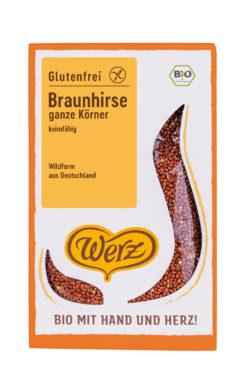 Naturkornmühle Werz Braunhirse, ganze Körner, keimfähig, glutenfrei 5x500g
