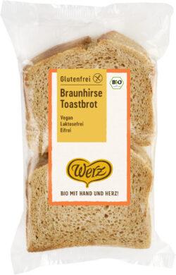 Naturkornmühle Werz Braunhirse Toastbrot, glutenfrei 4x250g