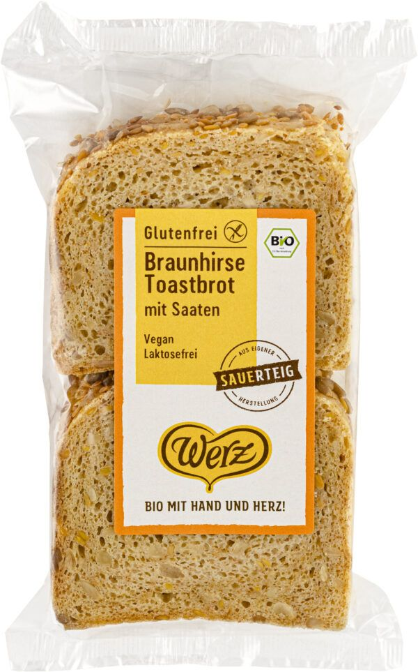 Naturkornmühle Werz Braunhirse Toastbrot mit Saaten, glutenfrei 4x250g
