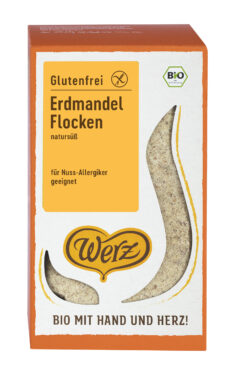 Naturkornmühle Werz Erdmandel Flocken, glutenfrei 5x500g