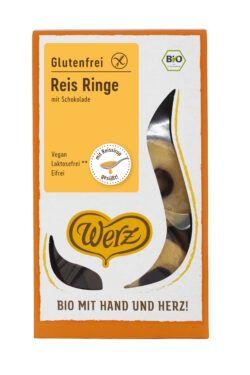 Naturkornmühle Werz Reis Ringe mit Schokolade, Vollkornkekse, glutenfrei 6x110g