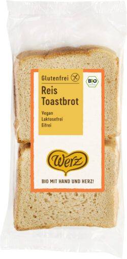 Naturkornmühle Werz Reis Toastbrot, glutenfrei 4x250g