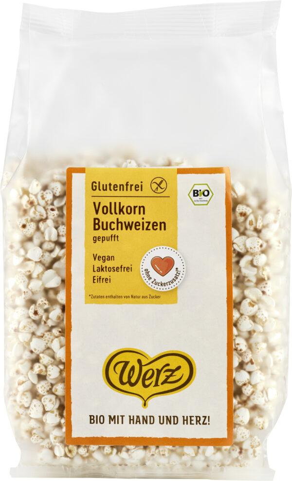 Naturkornmühle Werz Vollkorn Buchweizen gepufft, glutenfrei 10x80g