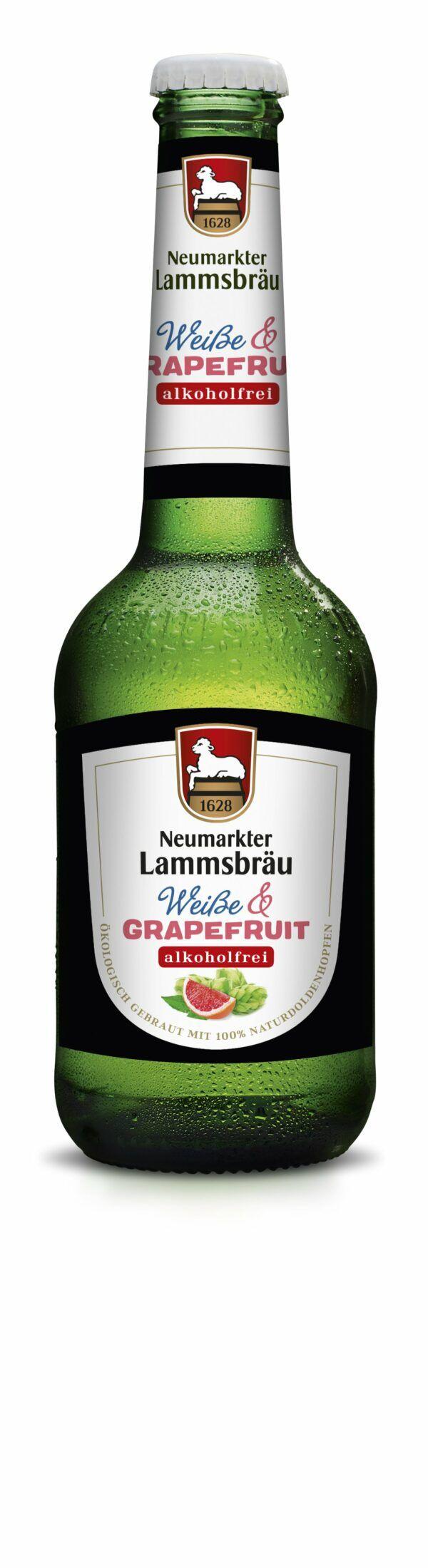 Neumarkter Lammsbräu Lammsbräu Weiße & Grapefruit Alkoholfrei (Bio) 10x0,33l