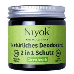 Niyok - 2 in 1 Deodorant Creme Anti-Transpirant: Green Touch 40ml