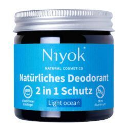 Niyok - 2 in 1 Deodorant Creme Anti-Transpirant: Light ocean 40ml