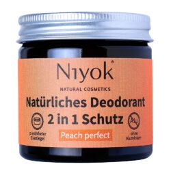 Niyok - 2 in 1 Deodorant Creme Anti-Transpirant: Peach Perfect 40ml