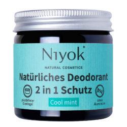 Niyok - 2 in 1 Deodorant Creme Anti-Transpirant: Cool mint 40ml