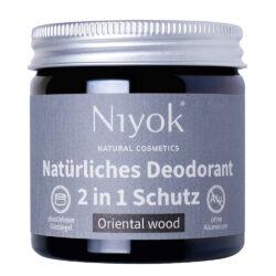 Niyok - 2 in 1 Deodorant Creme Anti-Transpirant: Oriental wood 40ml