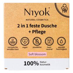 Niyok - 2 in 1 feste Dusche & Pflege Soft Blossom 80g