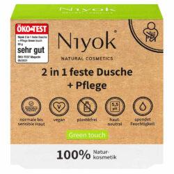 Niyok - 2 in 1 feste Dusche & Pflege Green Touch 80g