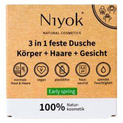 Niyok 3 in 1 feste Dusche / Körper + Haare + Gesicht 80g