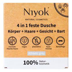 Niyok 4 in 1 feste Dusche / Körper + Haare + Gesicht + Bart 80g