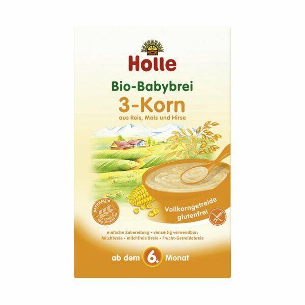 Holle Bio-Babybrei 3-Korn 6x250g