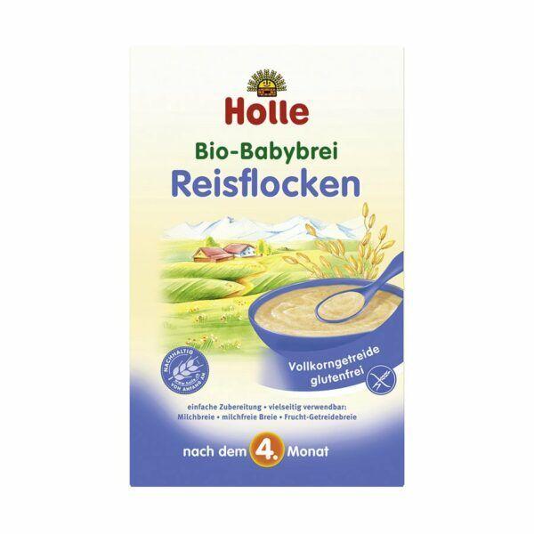 Holle Bio-Babybrei Reisflocken 6x250g