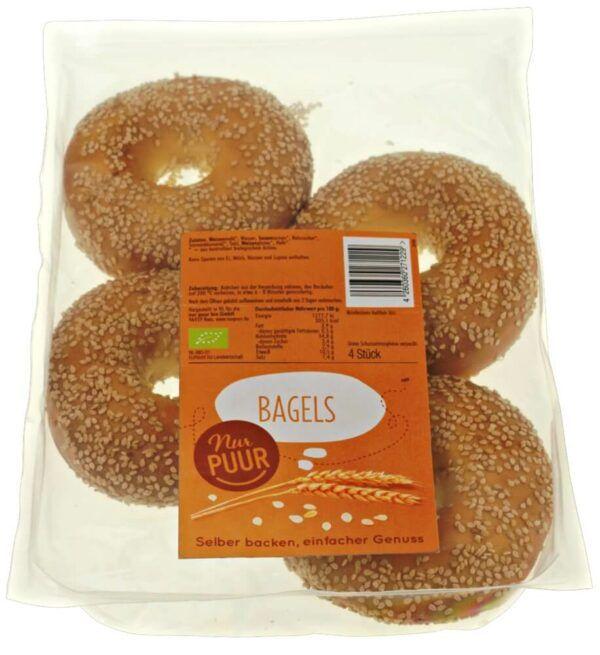 Nur Puur Bagels, 6 x 4 Stück (6 x 250g)