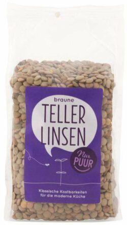 Nur Puur Braune Teller-Linsen 6x500g