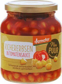 Nur Puur Kichererbsen in Tomatensauce Demeter 350g