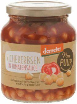 Nur Puur Kichererbsen in Tomatensauce Demeter 6x350g