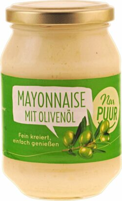 Nur Puur Mayonnaise mit Olivenöl 6x250ml