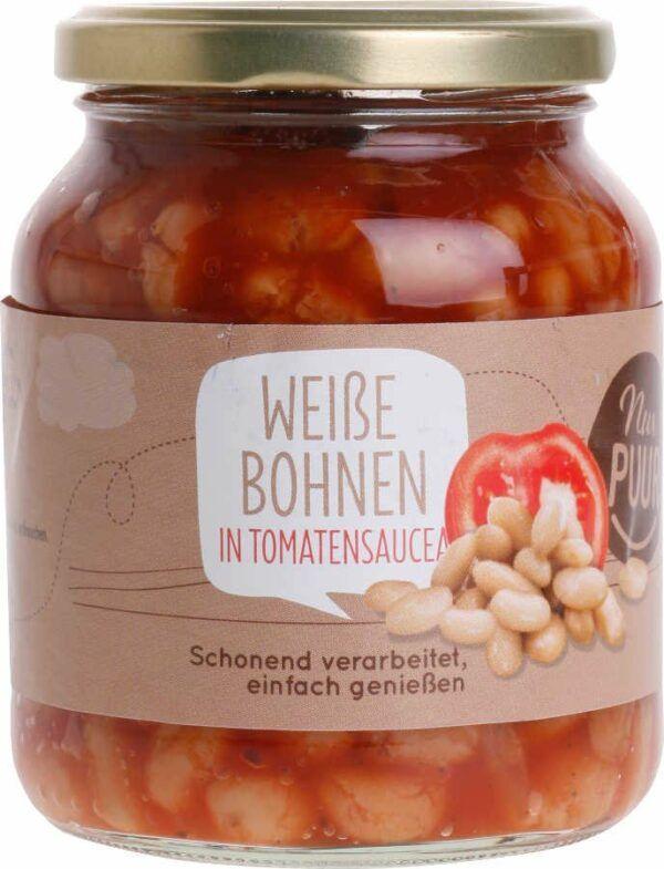 Nur Puur Weiße Bohnen in Tomatensauce 6x350g