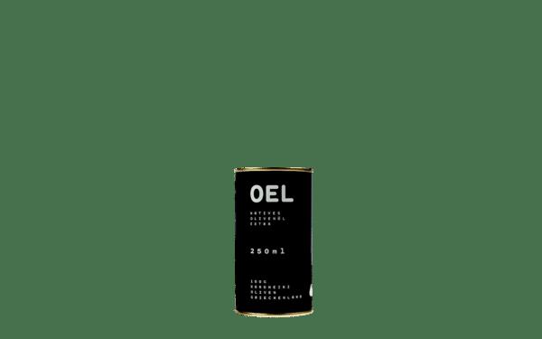 OEL  natives sortenreines selbsterzeugtes biozertifiziertes Koroneiki-Olivenöl extra. 6x250ml