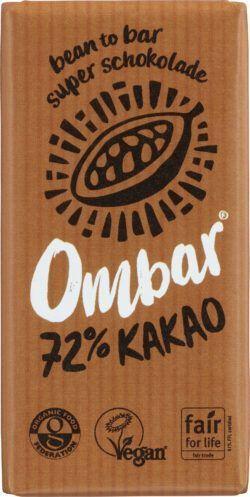 Ombar Rohschokolade 72% Kakao 10x35g
