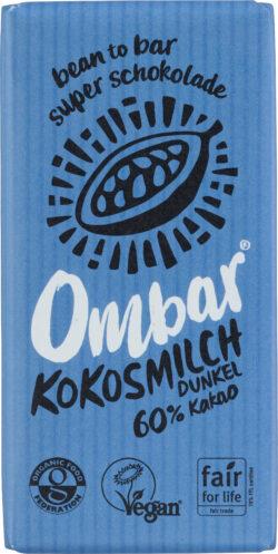 Ombar Rohschokolade Kokosmilch Dunkel 10x35g