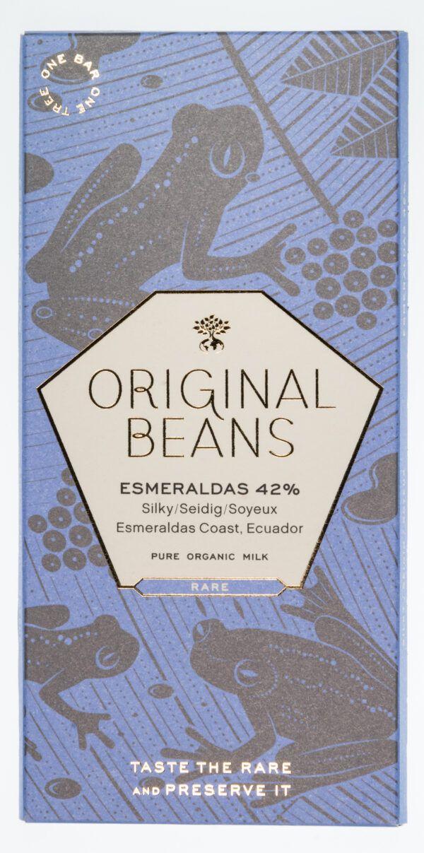 Original Beans Esmeraldas 42% Bio Milchschokolade Tafeln 13x70g