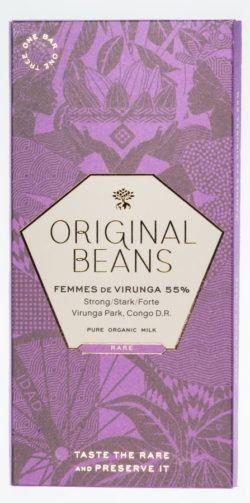 Original Beans Femmes de Virunga 55% Bio Milchschokolade 13x70g