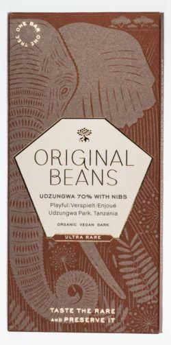 Original Beans Udzungwa 70% mit Nibs Bio Dunkelschokolade 13x70g