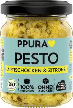 PPURA BIO Pesto Artischocken, Petersilie und sizilianische Zitrone 6x120g