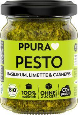 PPURA BIO Pesto Basilikum, Limette und Cashews 6x120g