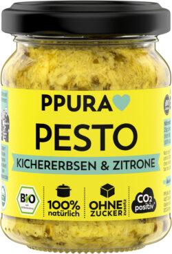 PPURA BIO Pesto Kichererbsen, Zitrone und Koriander 6x120g