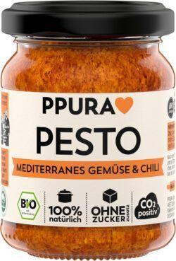 PPURA BIO Pesto Mediterranes Gemüse und Chili 6x120g