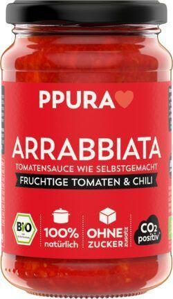 PPURA BIO Sugo Arrabbiata - mit fruchtigen Tomaten, Knoblauch und Chili 6x340g