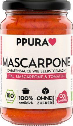PPURA BIO Sugo Mascarpone - mit italienischer Mascarpone und Tomaten 6x340g