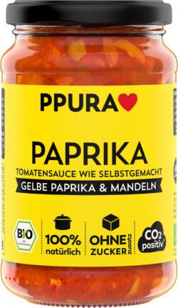 PPURA BIO Sugo Paprika - mit gelber Paprika und Mandeln 6x340g