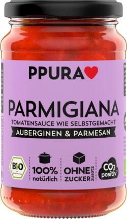 PPURA BIO Sugo Parmigiana - mit Auberginen, Tomaten und Parmesan 6x340g