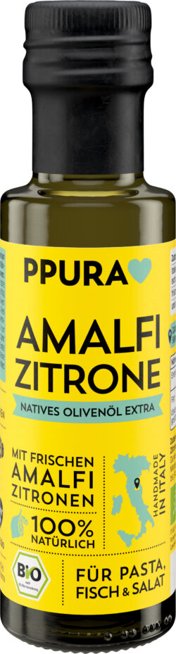 PPURA Olivenöl Amalfi Zitrone BIO - mit Zitrone 6x100ml