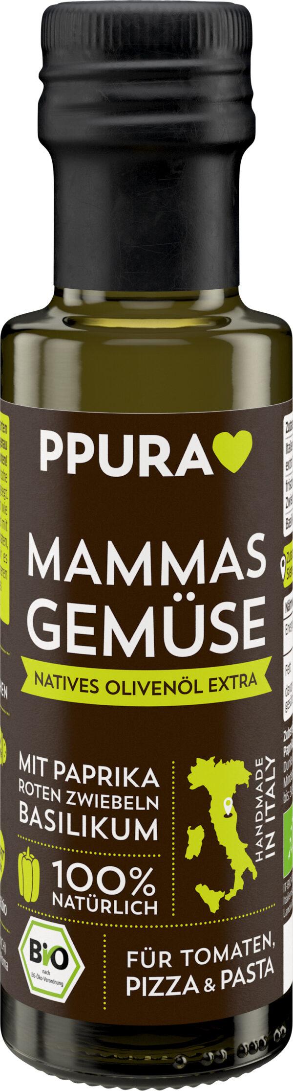 PPURA Olivenöl Mammas Gemüse BIO - mit Paprika, Basilikum 6x100ml