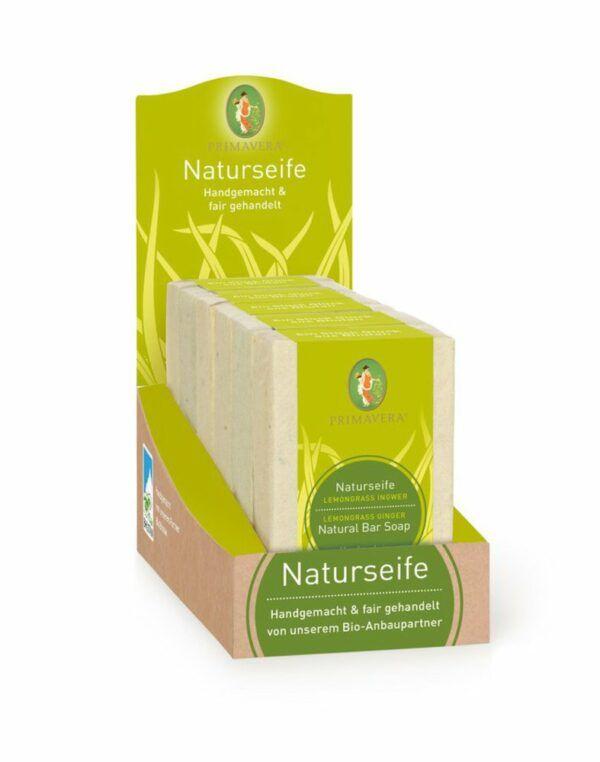 PRIMAVERA Display Naturseife Lemongrass Ingwer 6x600g