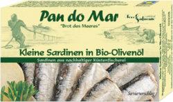 Pan do Mar Kleine Sardinen in Bio-Olivenöl 10x120g
