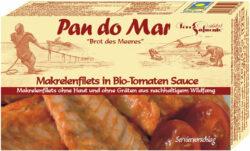 Pan do Mar Makrelenfilets in Bio-Tomaten Sauce 10x120g