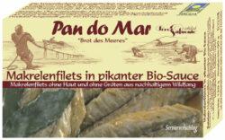Pan do Mar Makrelenfilets in pikanter Bio-Sauce 10x120g